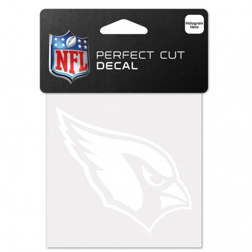 Arizona Cardinals Decal 4x4 Perfect Cut White