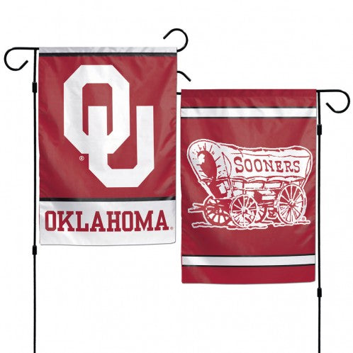Oklahoma Sooners Flag 12x18 Garden Style 2 Sided