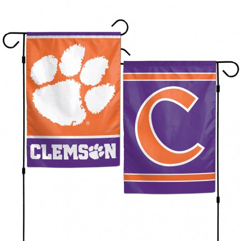 Clemson Tigers Flag 12x18 Garden Style 2 Sided