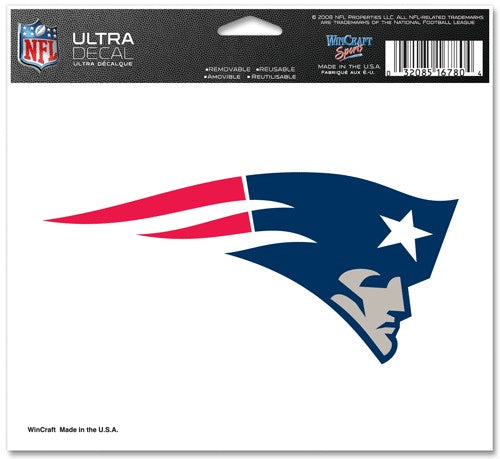 New England Patriots Decal 5x6 Ultra Color