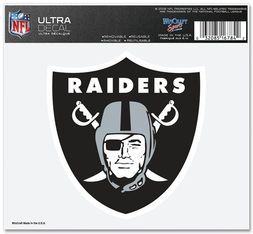 Las Vegas Raiders Decal 5x6 Ultra Color