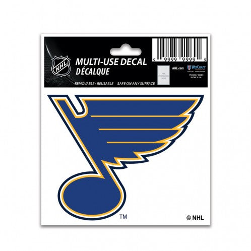 St. Louis Blues Decal 3x4 Multi Use Color - Special Order