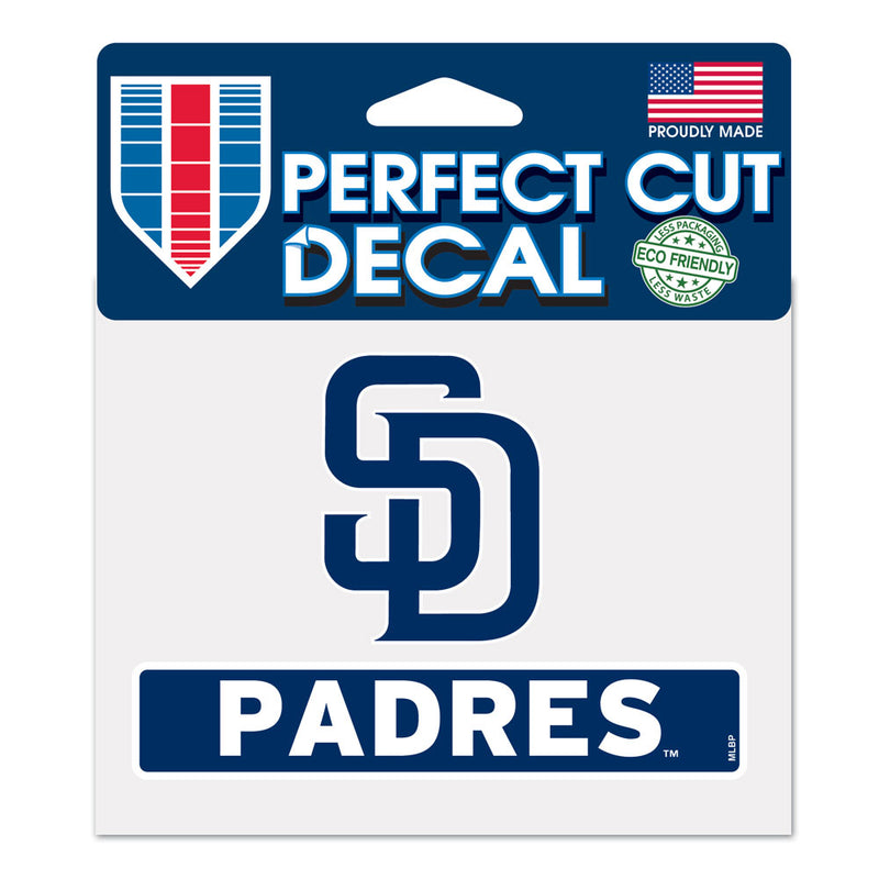 San Diego Padres Decal 4.5x5.75 Perfect Cut Color - Special Order