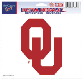 Oklahoma Sooners Decal 5x6 Ultra Color