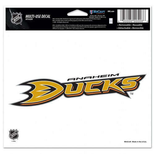 Anaheim Ducks Decal 5x6 Ultra Color