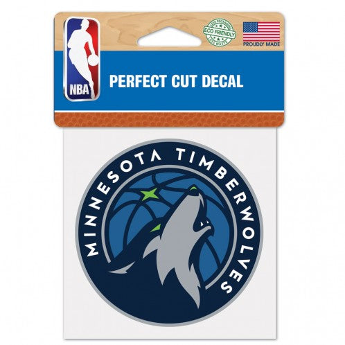 Minnesota Timberwolves Decal 4x4 Perfect Cut Color