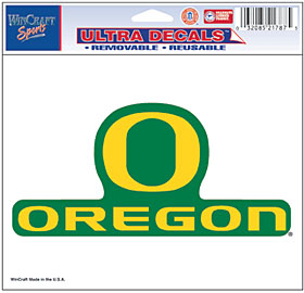 Oregon Ducks Decal 5x6 Ultra Color