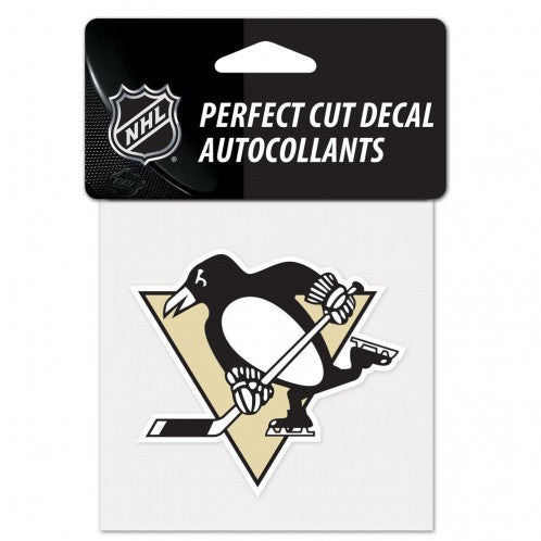 Pittsburgh Penguins Decal 4x4 Perfect Cut Color