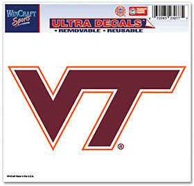 Virginia Tech Hokies Decal 5x6 Ultra Color