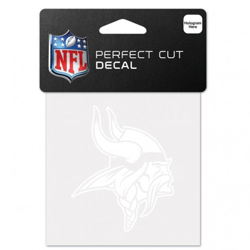 Minnesota Vikings Decal 4x4 Perfect Cut White