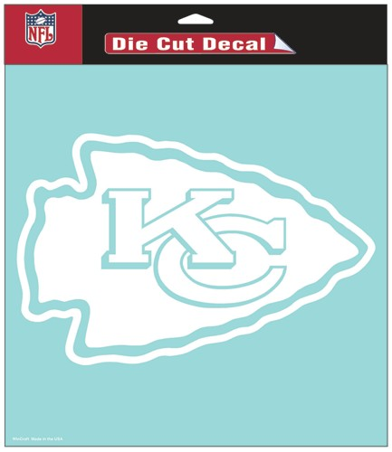 Kansas City Chiefs Decal 8x8 Die Cut White