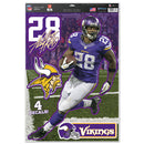 Minnesota Vikings Adrian Peterson Decal 11x17 Multi Use