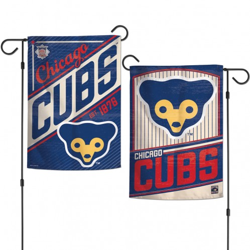 Chicago Cubs Flag 12x18 Garden Style Cooperstown Design