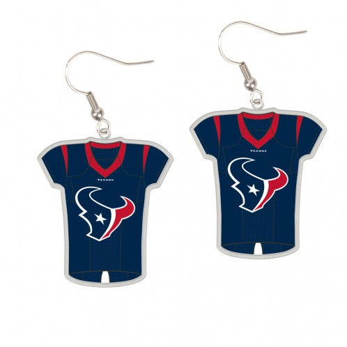 Houston Texans Earrings Jersey Style - Special Order