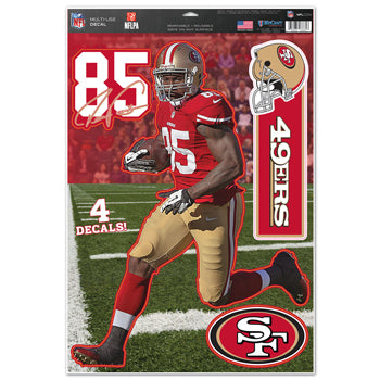 San Francisco 49ers Vernon Davis Decal 11x17 Multi Use