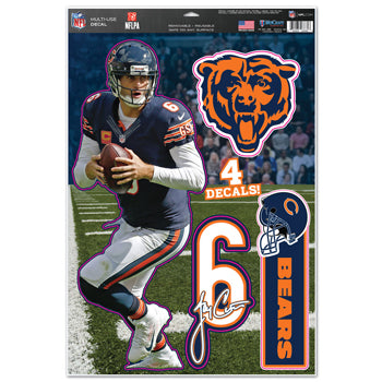 Chicago Bears Jay Cutler Decal 11x17 Multi Use