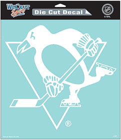 Pittsburgh Penguins Decal 8x8 Die Cut White