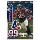 Houston Texans J.J. Watt Decal 11x17 Multi Use