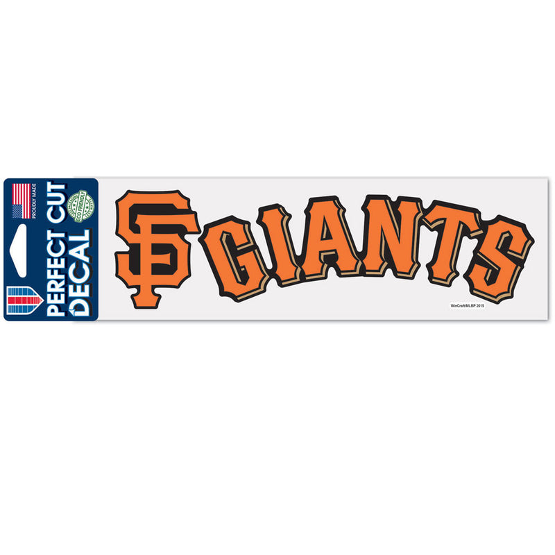 San Francisco Giants Decal 3x10 Perfect Cut Color - Special Order