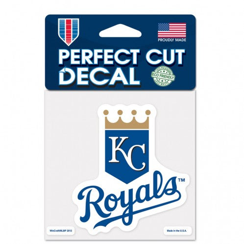 Kansas City Royals Decal 4x4 Perfect Cut Color