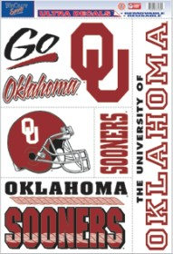 NCAA - Oklahoma Sooners - Decals Stickers Magnets