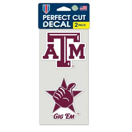 Texas A&M Aggies Set of 2 Die Cut Decals