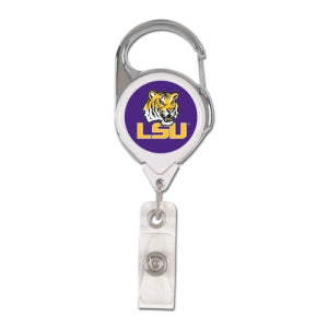 LSU Tigers Retractable Premium Badge Holder