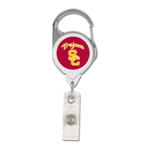 USC Trojans Retractable Premium Badge Holder