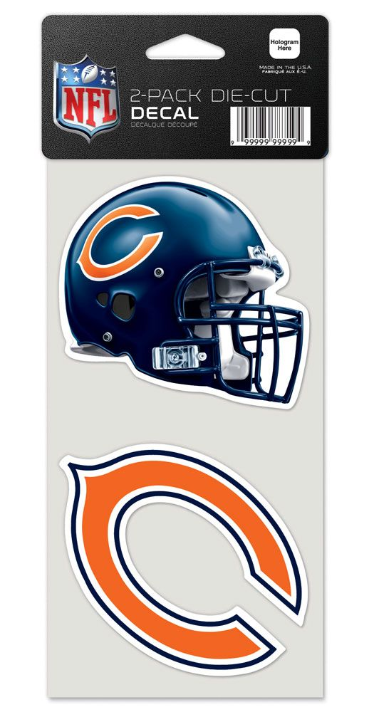 Chicago Bears Set of 2 Die Cut Decals