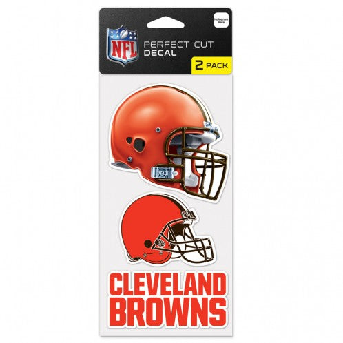 Cleveland Browns Set of 2 Die Cut Decals