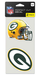 Green Bay Packers Set of 2 Die Cut Decals