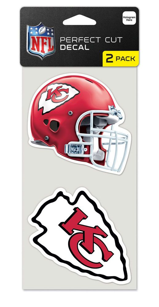 Kansas City Chiefs Set of 2 Die Cut Decals
