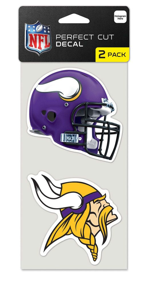 Minnesota Vikings Set of 2 Die Cut Decals