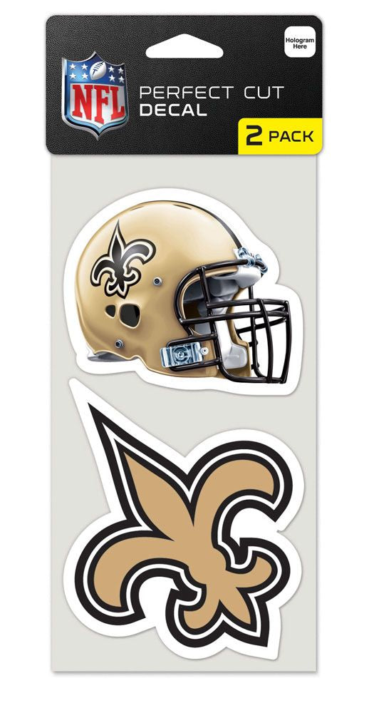 New Orleans Saints Set of 2 Die Cut Decals