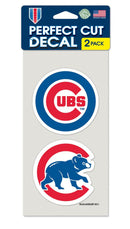 Chicago Cubs Set of 2 Die Cut Decals