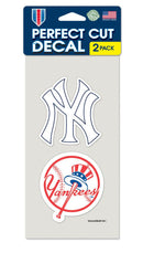New York Yankees Set of 2 Die Cut Decals