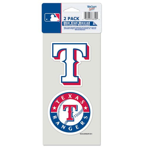 Texas Rangers Decal 4x4 Perfect Cut Set of 2
