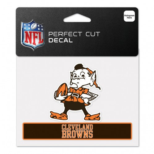 Cleveland Browns Decal 4.5x5.75 Perfect Cut Color