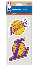Los Angeles Lakers Decal 4x4 Perfect Cut Set of 2