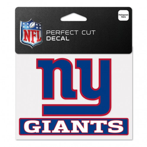 New York Giants Decal 4.5x5.75 Perfect Cut Color