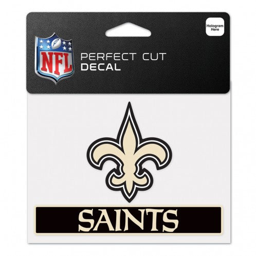 New Orleans Saints Decal 4.5x5.75 Perfect Cut Color - Special Order