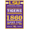 LSU Tigers Sign 11x17 Wood Established Design