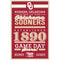 Oklahoma Sooners Sign 11x17 Wood Established Design