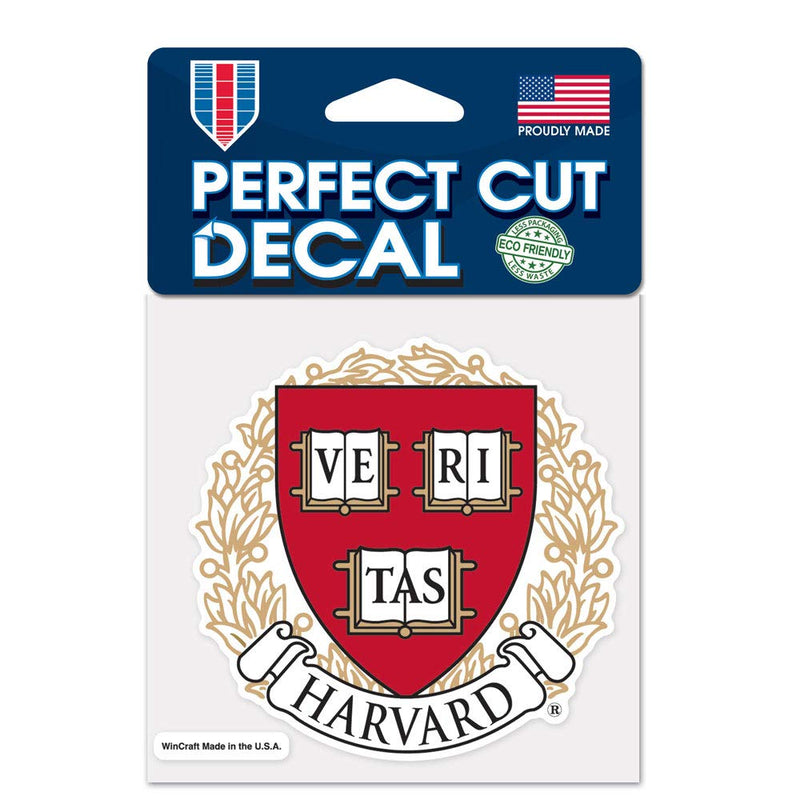 Harvard Crimson Decal 4x4 Perfect Cut Color