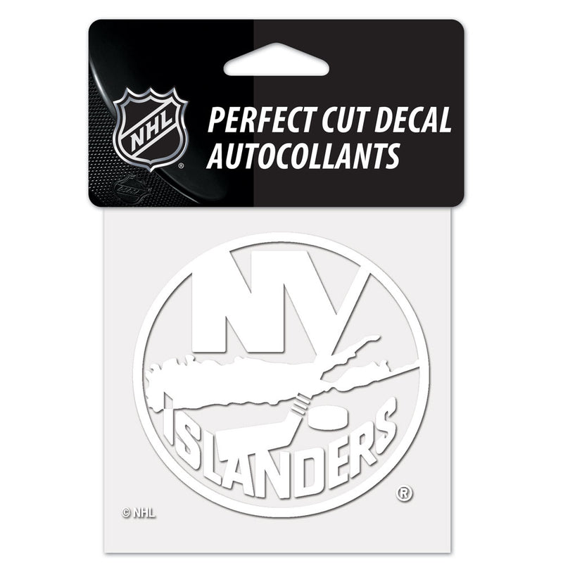 New York Islanders Decal 4x4 Perfect Cut White - Special Order