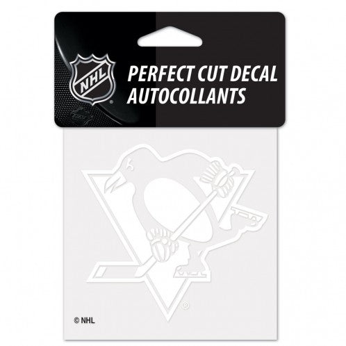 Pittsburgh Penguins Decal 4x4 Perfect Cut White