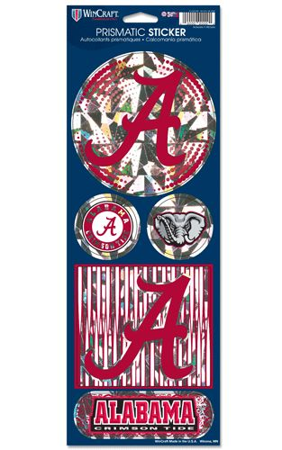 Alabama Crimson Tide Stickers Prismatic