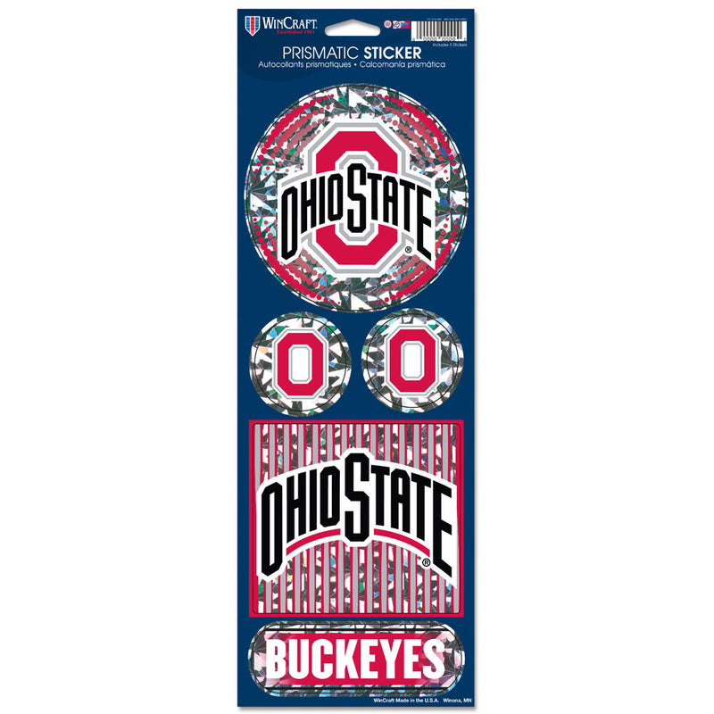 Ohio State Buckeyes Stickers Prismatic