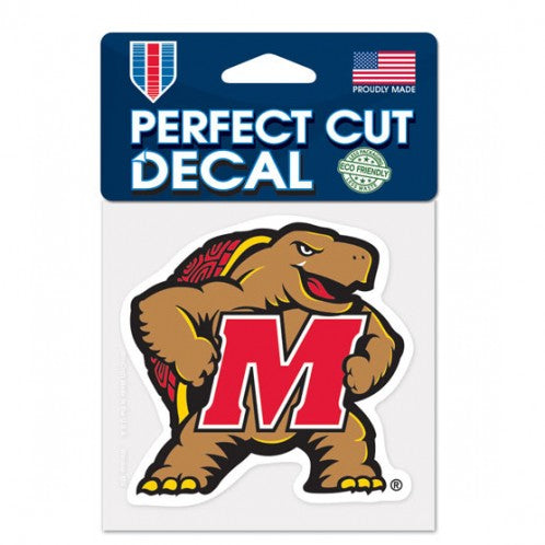 Maryland Terrapins Decal 4x4 Perfect Cut Color