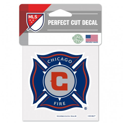 Chicago Fire Decal 4x4 Perfect Cut Color